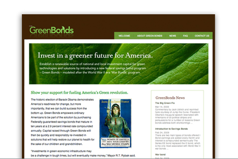 Green wordpress website
