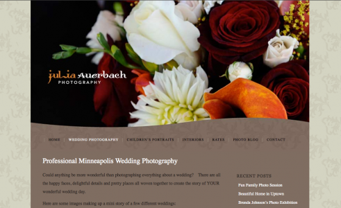 Photoblog for professional photograher