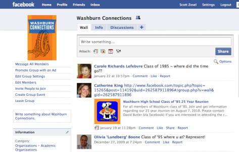 Facebook for Washburn