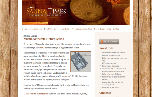 Saunatimes wordpress website