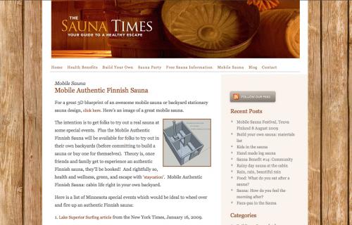 Saunatimes wordpress website